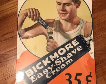 Vintage Bickmore Shavinf Ad with Reagan