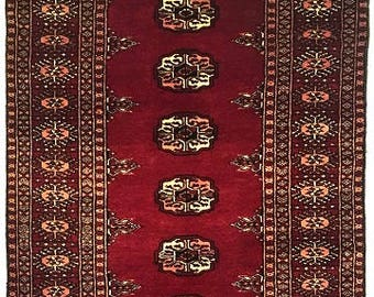 Mori Bukhara Hand Knotted Wool Rug