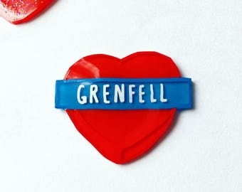 Grenfell Tower Fire Awareness pin