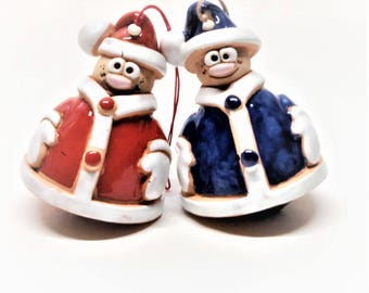 "Christmas .New year.Bell "" Santa Claus"".""Angel"" Bells. Ceramic Bell. Handmade Bells.Kids toy.Easter."