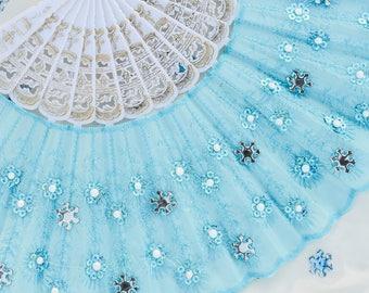 Snowflake Frozen Hand Fan