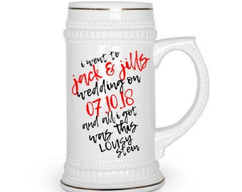 CUSTOM BEER MUG 22oz Beer stein, custom beer stein, Funny Wedding Favors, personalized beer mug