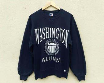 Vintage University of Washington Sweatshirt | Vintage Washington Alumni sweatshirt