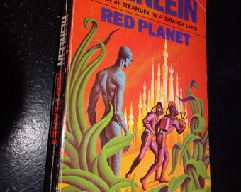 RED PLANET * Classic Sciene Fiction Robert A. HEINLEIN Paperback Book * Cover Art by Steele Savage * Interior Illustration by Clifford Geary