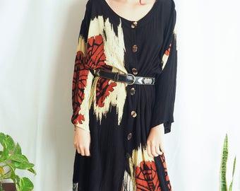 vintage oversized fringed dress kimono