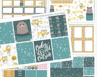 WINTER NIGHTS | Full Kit | Planner Stickers | Erin Condren Vertical