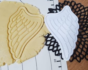 Angel Wings Cookie Cutter and Stamp Set