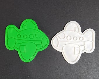 Passenger Plane Cookie Cutter and Stamp