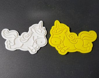 Unicorn Running Cookie Cutter and Stamp