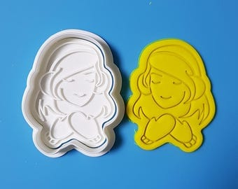 Girl Wearing Mitten Cookie Cutter and Stamp