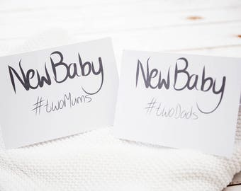 Same sex New baby card