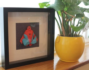 Origami Paper Spiderman Frame