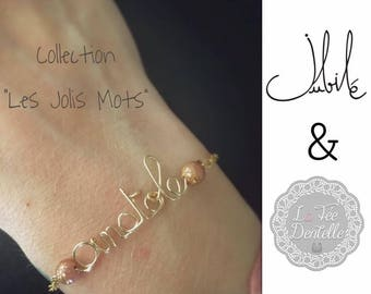 Personalized gold filled 12carats gold or silver plated bracelet