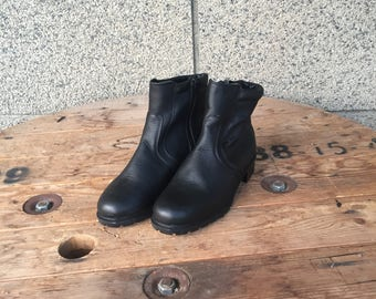 Leather Boots, Black Leather Boots, Combat Boots, Women Boots, Black Leather, Black Boots, Black Shoes, Women Shoes