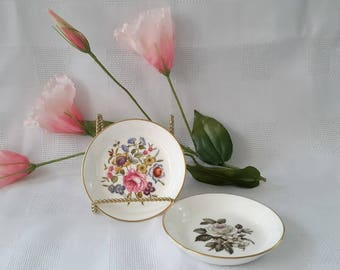 Royal Worcester Fine Bone China Set of Two Coasters, England
