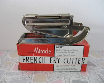 Retro EKCO Miracle French Fry Potato Cutter Slicer NEW in Original Box U.S.A.