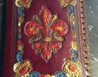 Vintage Leather embossed notebook