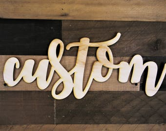 Custom Name Sign, Name wood sign, 3d name Wood Sign, personalized script sign, Cursive Word, word cut out, custom word cutout, Personalized