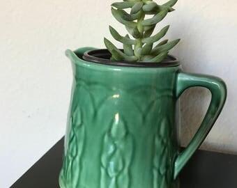 Vintage pottery pitcher - Vase