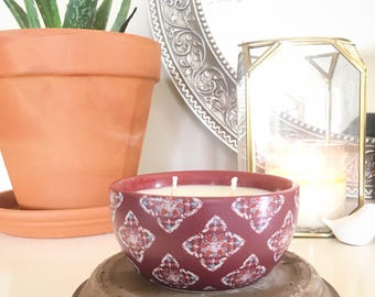 Ceramic Bowl Soy Wax Candle
