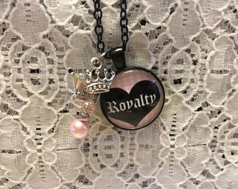 Royalty Charm Necklace/Royalty Jewelry/Royalty Necklace/Royalty Pendant/Princess Jewelry/Queen Jewelry