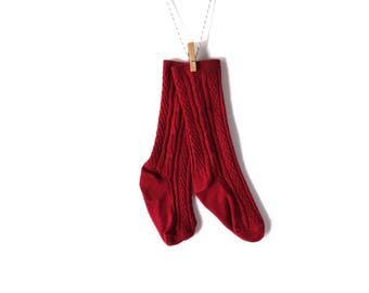 Maroon Knee-High Stockings/Socks for Baby/Toddler