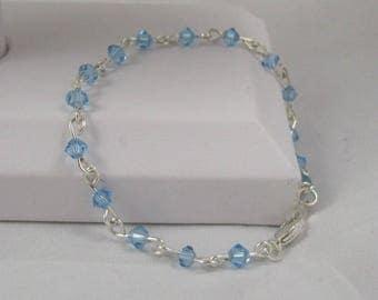 Swarovski Crystal Bracelet, Silver Clasp