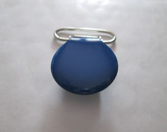 a clip / pacifier round Royal Blue enameled metal