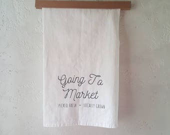 Going To Market Farmer's Market Towel