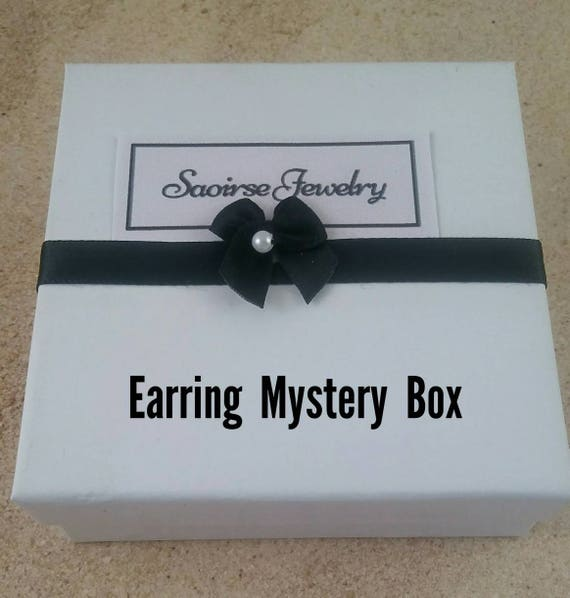 Mystery Earring box, jewelry surprise, random earring gift, jewelry set, mystery bag, lucky box, mystery box gift, Jewelry grab bag,