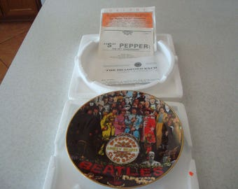 The Beatles Vintage Sgt. Pepper 25th Anniversary Collectors Plate 1992 Apple Corps