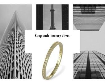 Zirconia Memory Ring (8ct yellow gold/1.00grams)