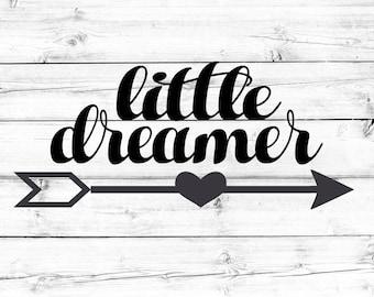 Little Dreamer SVG - PNG, Baby Girl Svg, Newborn Svg, Kids Svg, Toddler Girl Svg, Baby Svg, Cricut Svg, Cut File, Cricut