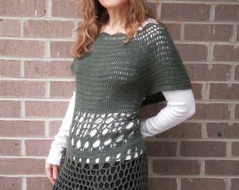 Crocheted Green Top/Dress