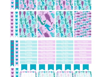 UNDER THE SEA Weekly Planner Sticker Kit/Printable's Happy Planner Classic Instant Download /