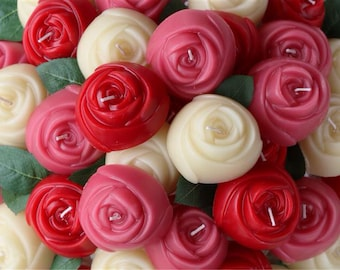 SALE- 6 Rose Candles!