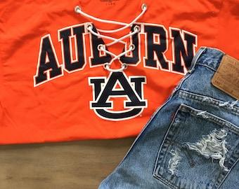 Auburn University Lace Up Tee