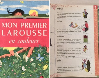 Vintage Children's Dictionary - French - 1950's