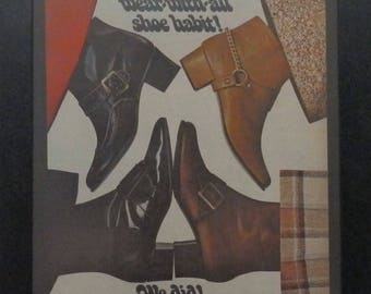 Boot, Pant Boots, Sears, Vintage Ad, Women's Clothes, Midcentury Styles, Ephemera, Collage, Mixed Media