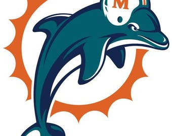 Miami Dolphins Football .svg file for Cricut and Silhouette (b&w)