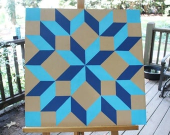 "24"" x 24"" Barn Quilt, Carpenters Wheel Pattern  - IN STOCK!"