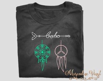 Boho Dream Catchers T-Shirt, Short Sleeve or Long Sleeve, Boho, Gypsy, Wanderlust, Arrows