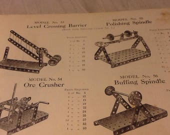 8, 1928 toy construction book pages