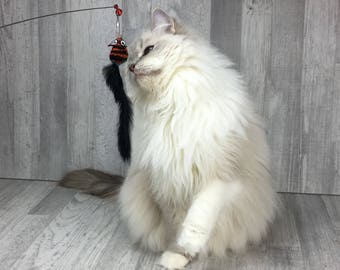 Cat toy | Pull out fly wand cat teaser toy | Interactive cat toy | Award winning cat toy | Lure cat toy | Mouse cat toy | Feather cat toy