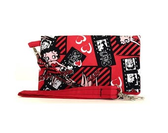 Closeout - Betty Boop Cell Phone Wallet Wristlet