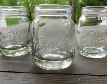 mason jar shot glasses set of 3 cheers mini mason jar shot glass - Mason Jar Glasses