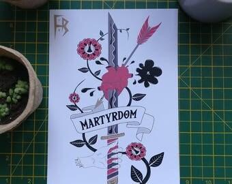 Martyrdom - Digital Test Print