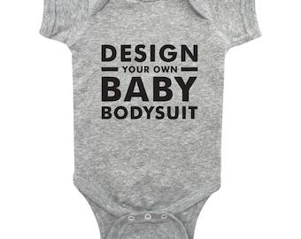 Design Your Own - CUSTOM Hand Screen Printed Baby Bodysuit - Custom Infant Bodysuit