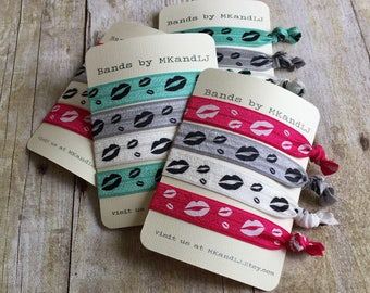 Elastic Hair Ties, Bracelets, Lips