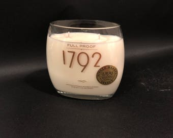 1792 Candle Full Proof Bourbon Whiskey BOTTLE Soy Candle With/Without Pedestal Base. 750ML: Made To Order !!!!!